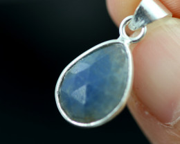 Faceted Sapphire Sterling Silver pendant code CCC 2259