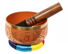 Tibetan Singing Bowl 13cm Orange code C-BOWLS5O