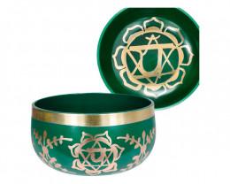 Tibetan Singing Bowl 13cm Green code C-BOWLS5G