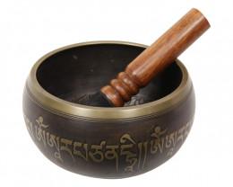 Tibetan Singing Bowl 15cm Antique Bronze Mantra code C-BOWLS6A