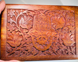 Carved  Hamsa Jewellery Box with draw code C-BOXHAMSA