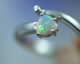 Opal Fire  Crystal set in Silver 925 Ring   Size N Code CCC2665