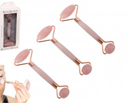 THREE sets Rose Quartz Facial Roller in presentation display box