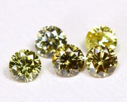 Yellowish Green Diamond 0.37Ct 2.6mm Natural Genuine Diamond Lot CCC 2296