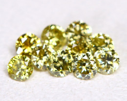 Yellowish Green Diamond 0.24Ct 1.8mm Natural Genuine Diamond Lot CCC 2316