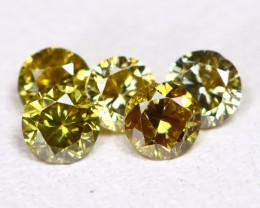 Yellowish Green Diamond 0.29Ct 2.4mm Natural Genuine Diamond Lot CCC 2331