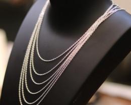 Six  45 cm  Fine Curb Silver chain . CMT 225