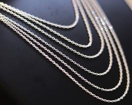 Six   40cm  Fine Curb Silver chain . CMT 222