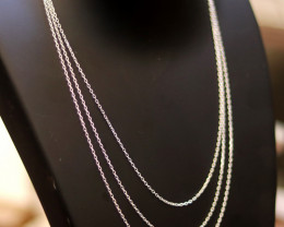 Three   40cm mm Fine Curb Silver chain . CMT 235