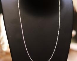 40cm  Fine Curb Silver chain . CMT 244