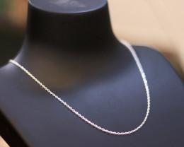 40cm  Fine Curb Silver chain . CMT 245