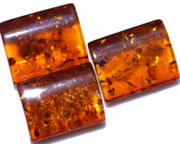 39 Cts 3 pcs Natural  Amber from Poland  code CCC2797