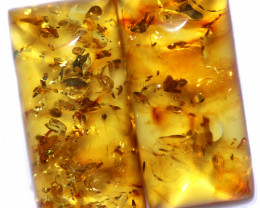 24 Cts Pair Natural  Amber from Poland  code CCC2810