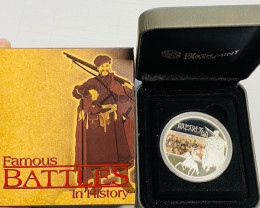 The Battle of Balaklava 1854 1oz Silver Proof Coin 99.9% Pure silver