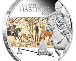 The Battle of Hastings 1066 1oz Silver Proof Coin  99.99% pure silver coin