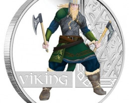2010 Viking 1oz Silver Proof Coin Great Warrior Series  99.99% pure silver