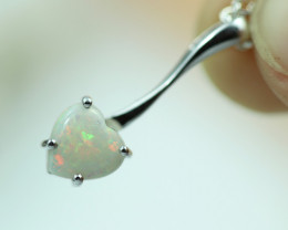 Cute Stylish Lovers Heart Crystal Opal Pendant  CCC 3005