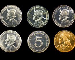 COLLECTORS SIX COIN 1967 PROOF BALBOA PANAMA SET CO 1068
