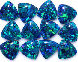 16 Cts Parcel Tri  Mosaic Triplets, Bright Opals  CCC 3138