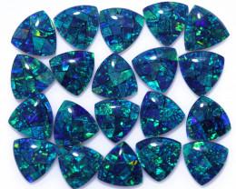 28 Cts Parcel Tri  Mosaic Triplets, Bright Opals  CCC 3140