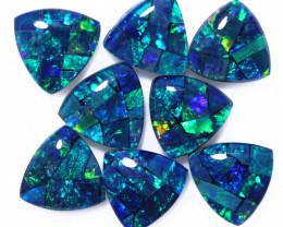 6 Cts Parcel Tri  Mosaic Triplets, Bright Opals  CCC 3146