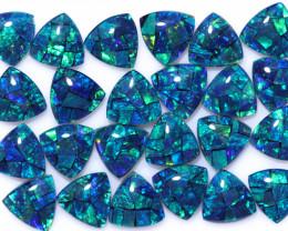 18 Cts Parcel Tri  Mosaic Triplets, Bright Opals  CCC 3152