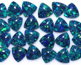18 Cts Parcel Tri  Mosaic Triplets, Bright Opals  CCC 3153
