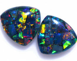1.80 Cts Parcel Tri  Mosaic Triplets, Bright Opals  CCC 3159