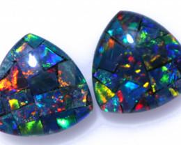 1.80 Cts Parcel Tri  Mosaic Triplets, Bright Opals  CCC 3160