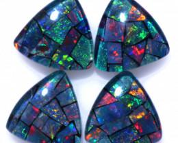 4.2 Cts Parcel Tri  Mosaic Triplets, Bright Opals  CCC 3164
