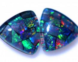 2.30 Cts Parcel Tri  Mosaic Triplets, Bright Opals  CCC 3168