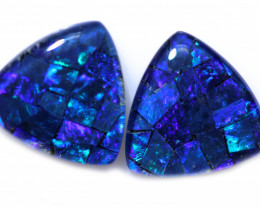 4.0 Cts Parcel Tri  Mosaic Triplets, Bright Opals  CCC 3172