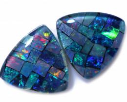 4.0 Cts Parcel Tri  Mosaic Triplets, Bright Opals  CCC 3176