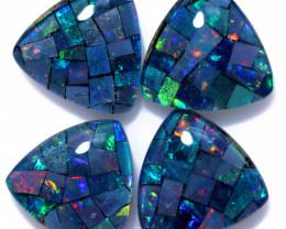 8 Cts Parcel Tri  Mosaic Triplets, Bright Opals  CCC 3229