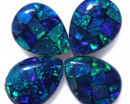 2.8 Cts Parcel Pear Drop Mosaic Triplets, Bright Opals  CCC 3194