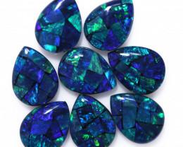 5.8 Cts Parcel Pear Drop Mosaic Triplets, Bright Opals  CCC 3187
