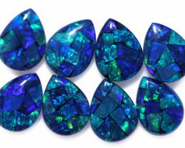 5.8 Cts Parcel Pear Drop Mosaic Triplets, Bright Opals  CCC 3188