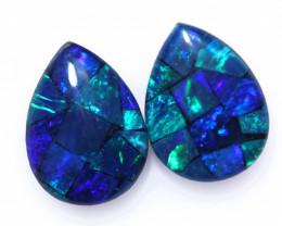 1.4 Cts Parcel Pear Drop Mosaic Triplets, Bright Opals  CCC 3201