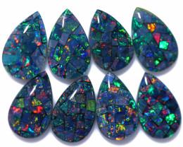 15 Cts Parcel Pear Drop Mosaic Triplets, Bright Opals  CCC 3216