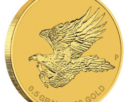 Australian Wedge-tailed Eagle 2015 0.5g   99.99% Pure   Gold Coin