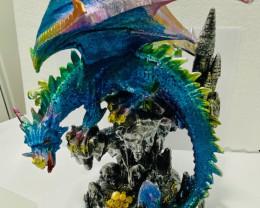large Colorful Treasure Hunter   Dragon    code C-DRARBBAL CODE b