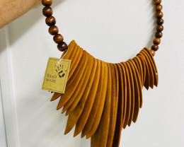 large  Tribal wooden Wall decor necklace  code C-TRIBALWA