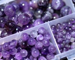 300 Amethyst Beads mixed sixes 4-10 mm AHA  379