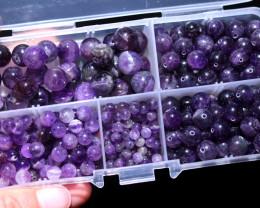 300 Amethyst Beads mixed sixes 4-10 mm AHA  380