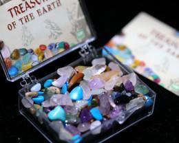 Two   x Treasure Of The Earth tumbled stones AHA 383