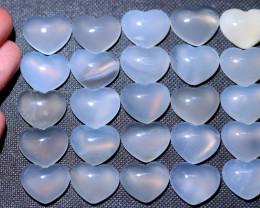 25  pcs Hazel Quartz  Lovers Hearts s code AHA 396