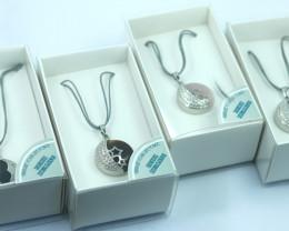 FOUR Gift boxed REIKI Gemstone Pendants Code REIKIN8-2