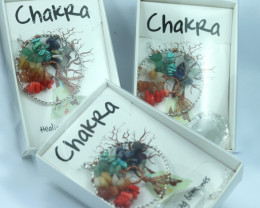 THREE Chakra Tree Of life Sun Catcher Pendants Gift boxed code TOLSCC-4