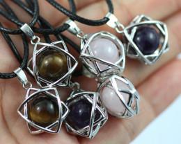 Eight six star gemstone pendants  code AHA 451