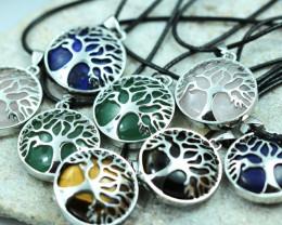 Eight Tree Of life Gemstone pendants  code AHA 462